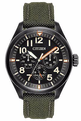 b41787c7552da Citizen BU2055-16E Men s Eco Drive Chandler Military Strap Multifunction  Watch usd159