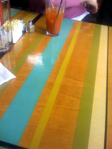 painted table top - love!