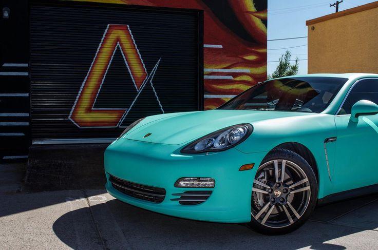 Porsche Panamera 4S Matte Emerald Green from Avery