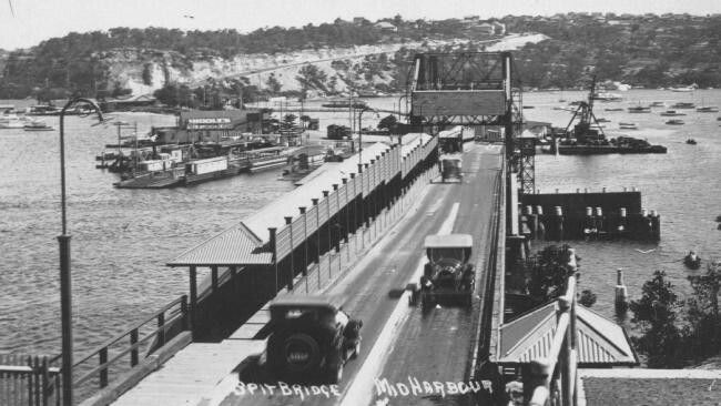 The Spit Bridge in northern Sydney after it was opened in 1924.