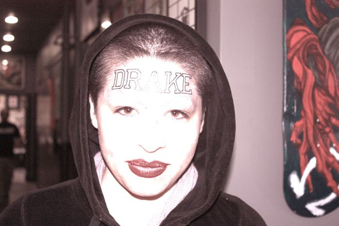 """The Story Behind The World's Dumbest Tattoo   VICE ---  This chick might as well have gotten """"dumba$$"""" tattoo'd across her forehead!"""
