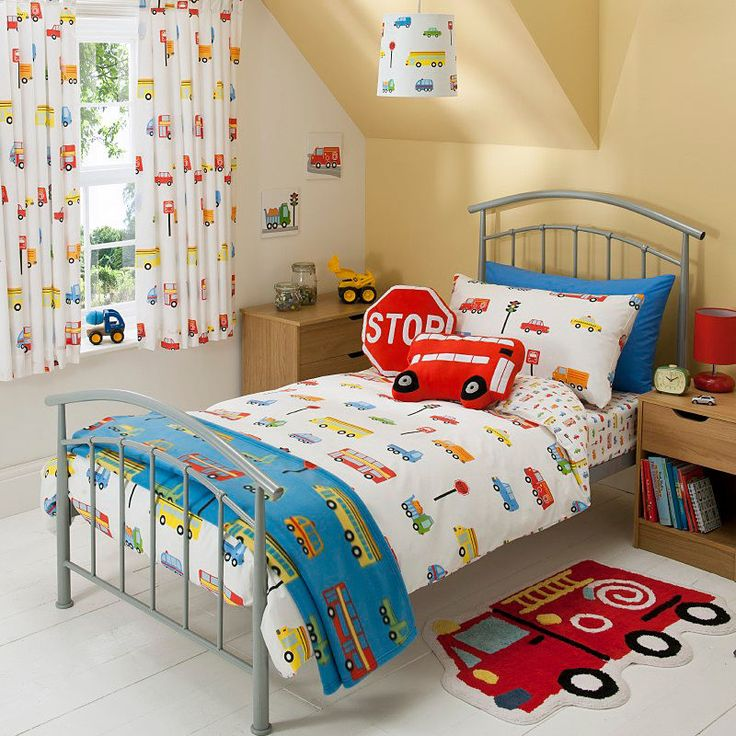 Amelia S Room Toddler Bedroom: Lovely Kids/Boys Transport Duvet Set, Toddler/Junior Size