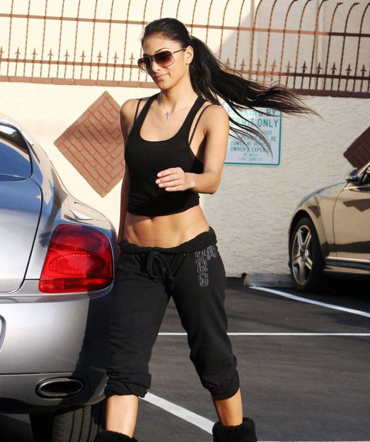 Nicole Scherzinger has an amazing body. STRONG not skinny!
