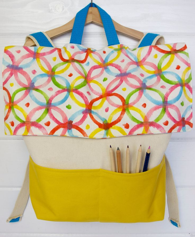 Do your kids want to carry their books and supplies in style this school year? Take a crack at designing and sewing up this DIY canvas backpack in their favorite colors!