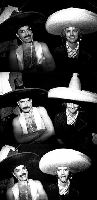 Freddie Mercury and Roger Taylor - my favorite pictures of them together :-)