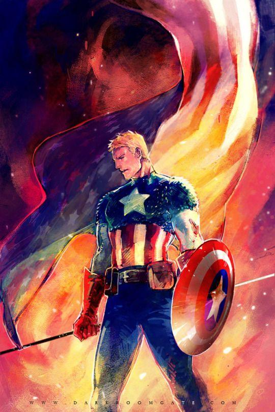 Play arts 27cm marvel captain america super hero action