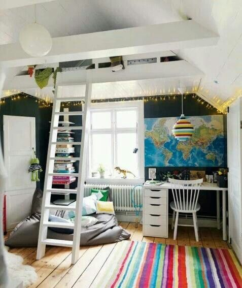 69 besten coole zimmer bilder auf pinterest rund ums haus wohnideen und arquitetura. Black Bedroom Furniture Sets. Home Design Ideas