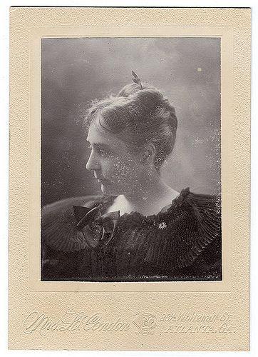 ATLANTA PHOTOGRAPHERS - Mrs. L. Condon photographed this portrait of Martha C. (Walker) McDaniels, ca. 1891