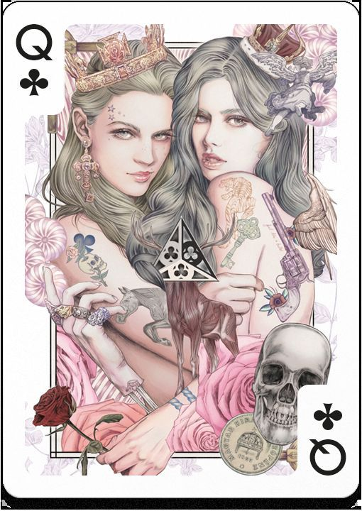 Fantastical Playing Card Collaborations. Don't know how close I'd wanna get to these two.