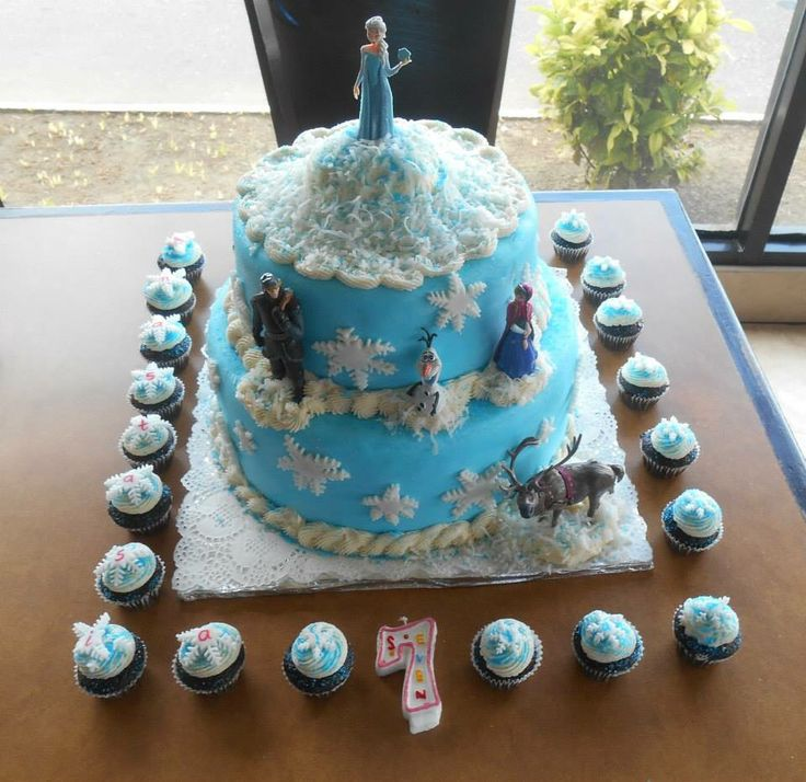 Frozen birthday cake....created by Splurge Follow us on Facebook https://www.facebook.com/pages/Splurge-Treat-Yourself/1471854443062956