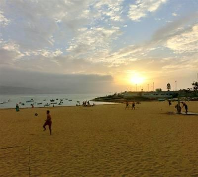 There's nearly always room on Big Beach in Las Palmas de Gran Canaria aka Las Canteras' Playa Grande