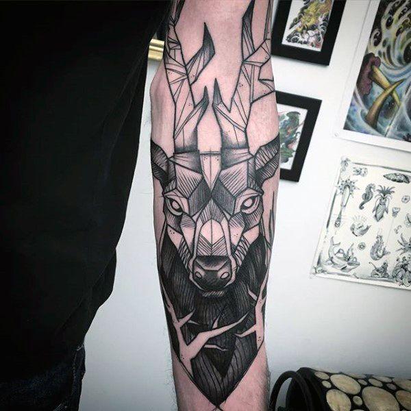 best 25 deer head tattoo ideas on pinterest deer art