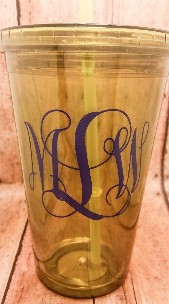 25  unique monogram cups ideas on pinterest