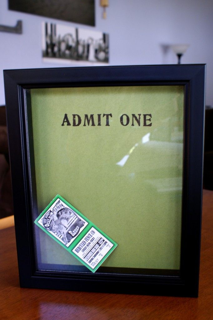 The 25+ best Ticket display ideas on Pinterest Travel shadow - create your own movie ticket