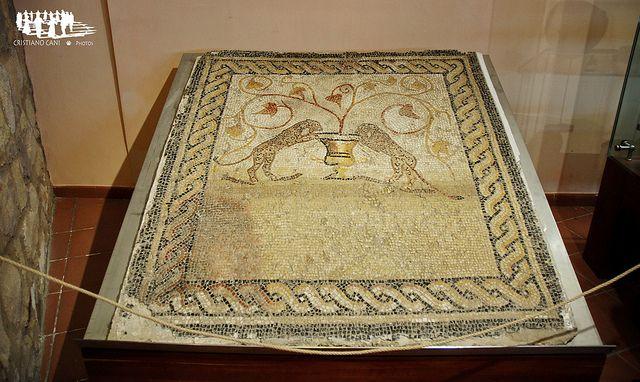 Mosaico romano, Museo Barreca Sant'Antioco, Sardegna, Sardinia