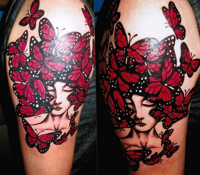 I want to get tatted at this place here in austin--->Tina Forever, Austin tattoo artist @ Resurrection Tattoo.