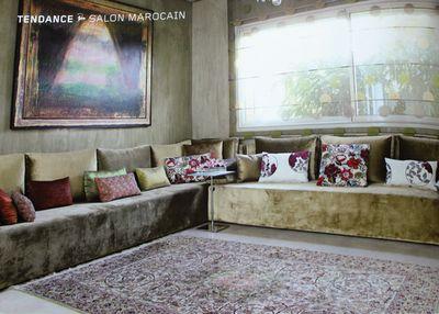 the salon marocain - Sedari Moderne En Bois