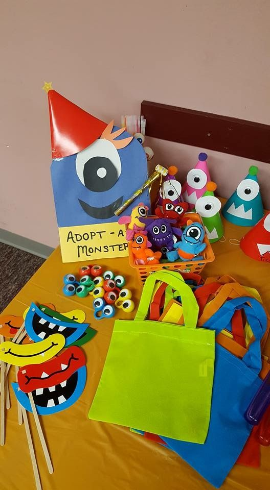 Little Monster birthday party Party Favors Adopt a Monster