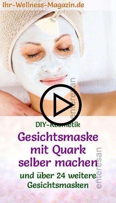 Facial Mask #with #Quark #selber # making # - # DIY Recipe # for - - Skin Care ...  -  Hautpflege-Rezepte