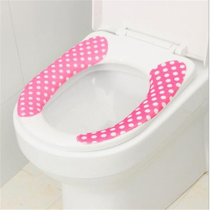 cartoon toilet set waterproof cushion cutting paste toilet mat water wash toilet stickers potty pad Random Color