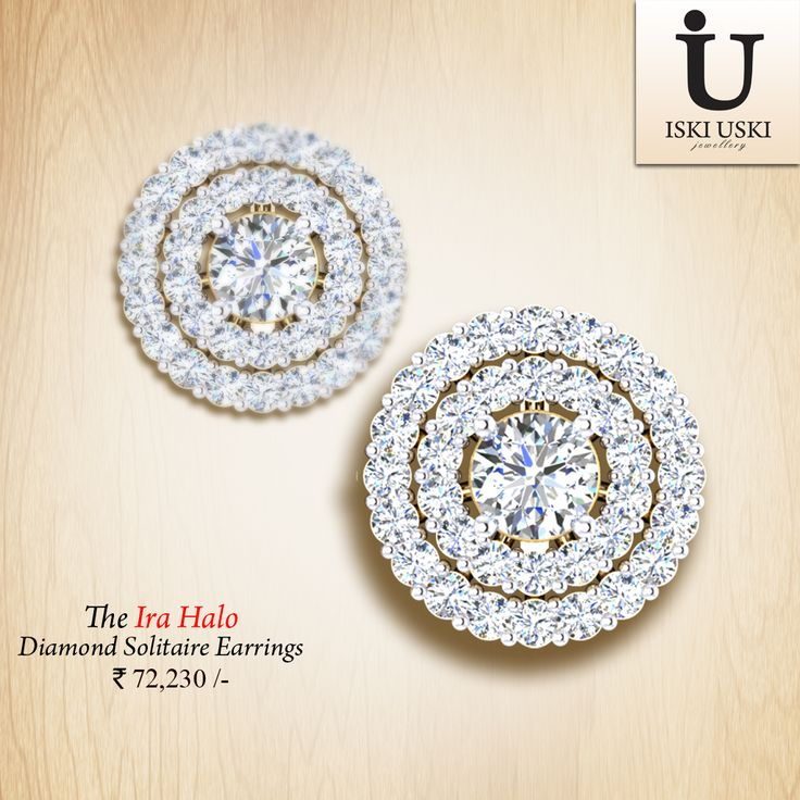 Buy best collection of traditional design solitaire earring.