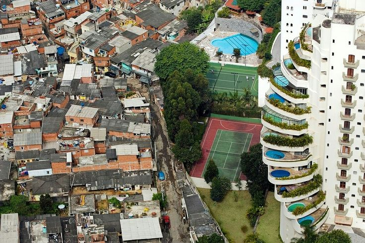 Brazil. Amazing how you can see the poverty line and wealth disparity in one picture.