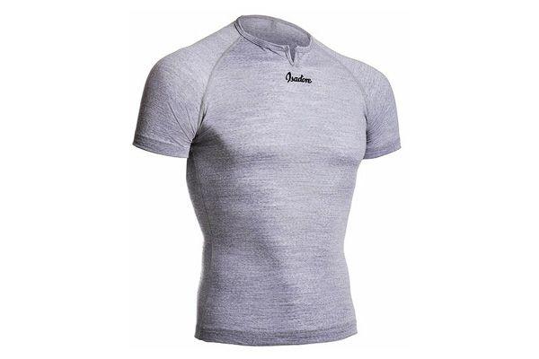 Isadore - 100 % Merino Short Sleeve Baselayer Grey #cyclingmemories