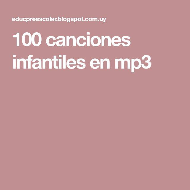 100 canciones infantiles en mp3