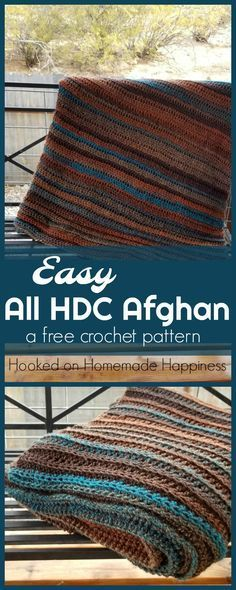 Easy All Half Double Crochet Afghan