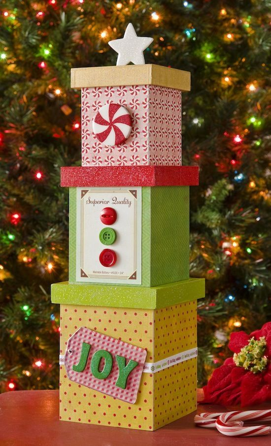 Mini DIY Christmas Tree Box Decor DIY ideas Pinterest