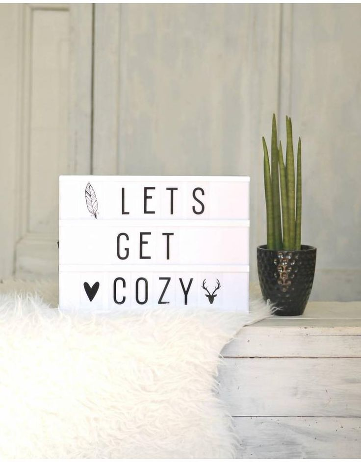 "A4 Lightbox ""Lets Get Cozy"""