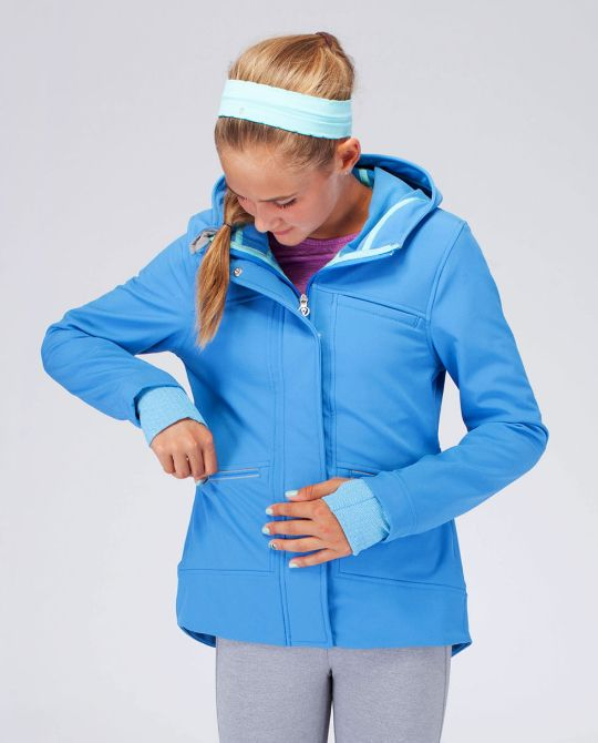 keep dry, warm and seen in this water-resistant jacket with reflective details. | Shine On The Field Jacket