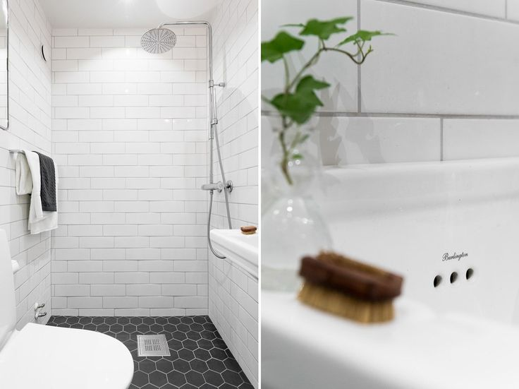 Nyrenoverat badrum  i smakfulla val med lyxig golvvärme