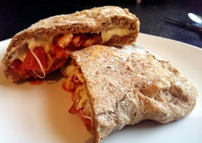 Sophie's wholemeal tomato dough meat feast pizza pocket Recipe - Very Tasty Food. Let's make it!