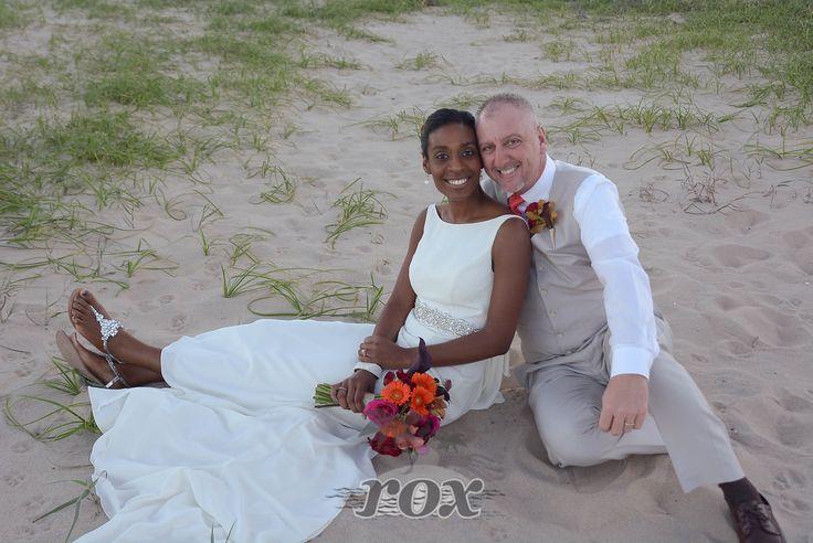 Wedding portrait at the Hollywood St. beach in Bethany Beach, DE: https://www.roxbeachweddings.com/