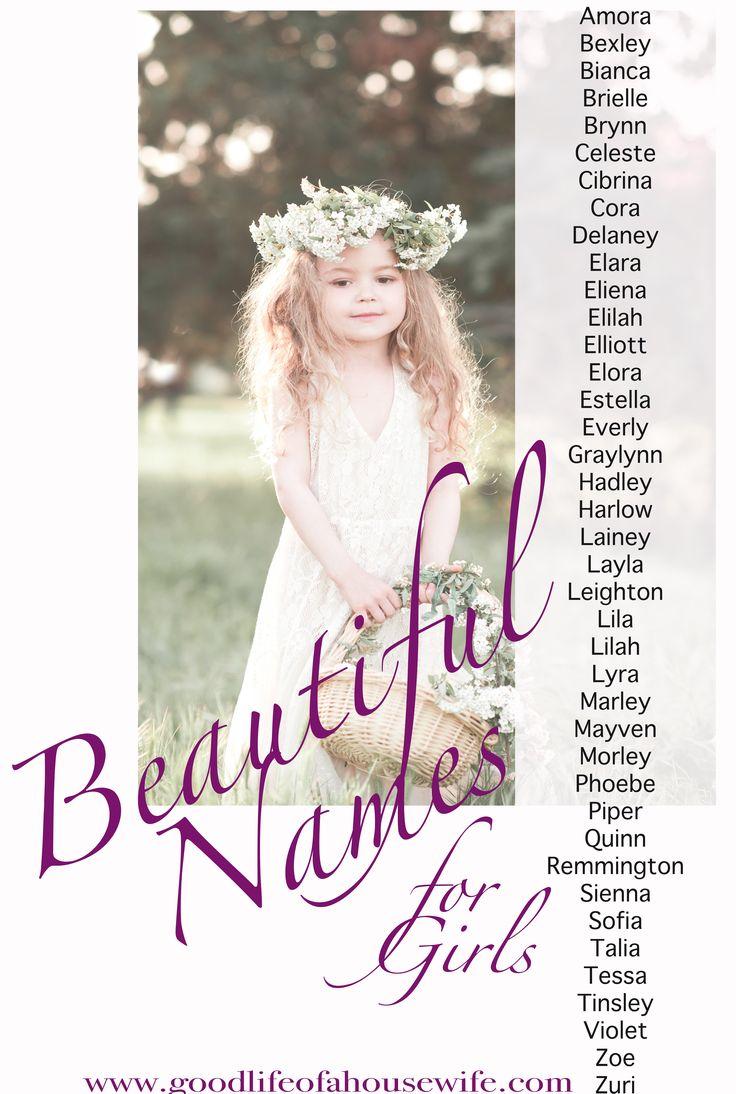 Beautiful Girl Names | Girl Names that will be popular in 2017 | ©Alina ©Alivia ©Amaya ©Amira ©Arabella ©Arianna ©Athena ©Aviana ©Aviva  ©Bella ©Blu ©Brynlee ©Catalina ©Charlie ©Della ©Evyana ©Finley ©Freya ©Gria ©Harper ©Jocelyn ©Kinsley ©Lana  ©Leilani ©London ©Mikaela ©Milanie ©Olea ©Paisley  ©Pascal  ©Presley ©Rhiannon ©Ryleigh ©Teagan ©Trinity ©Valentina ©Veronica ©Willow ©Zola ©Amora ©Bexley ©Bianca ©Brielle ©Brynn ©Celeste ©Cibrina ©Cora…