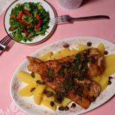 Rybí filety s bylinkovým máslem a kapary