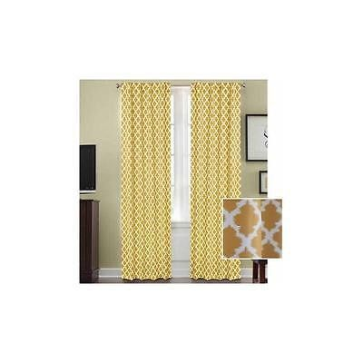 Bh&G Tangier Thermal 99 Percent Light Blocking Curtain Panel 52 In X 84 In Gold