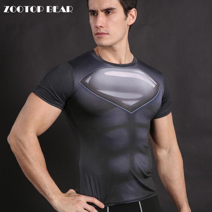 Superhero T Shirts Superman T shirt Compression Shirts Men Armor Cosplay Tops Fitness Tees Crossfit Camiseta Male ZOOTOP BEAR
