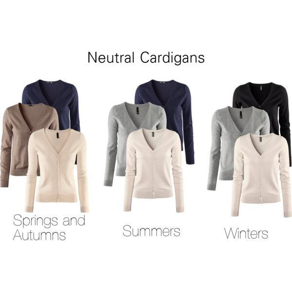 """Neutral Cardigans"" by katestevens on Polyvore"