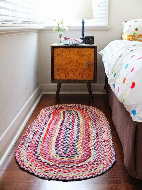Riciclo t-shirt: tappeto fai da te