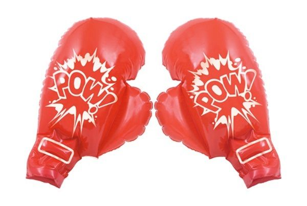 Inflatable Red Boxing Gloves 45.72cm Costume Party Favour - 2 Pack