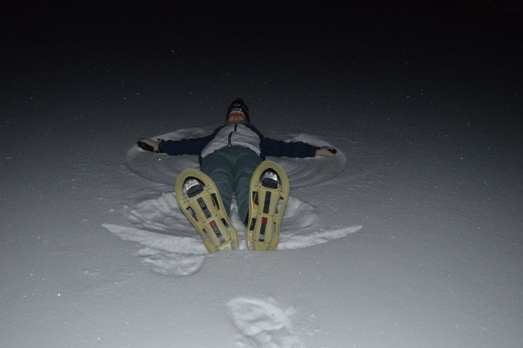 You're never too old for Snow Angels. Sabrina shows us how it's done.
