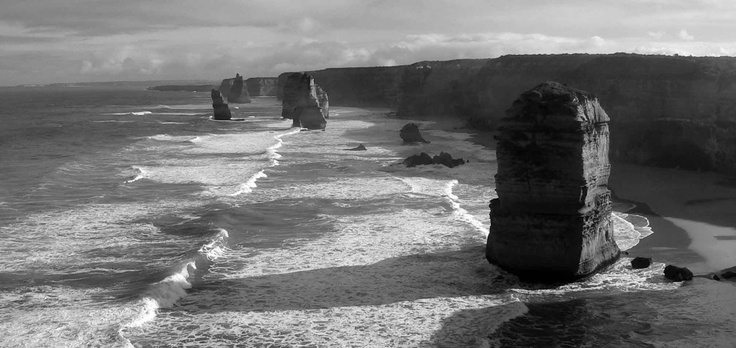 Long shadows on the 12 Apostles, Great Ocean Rd, VIC