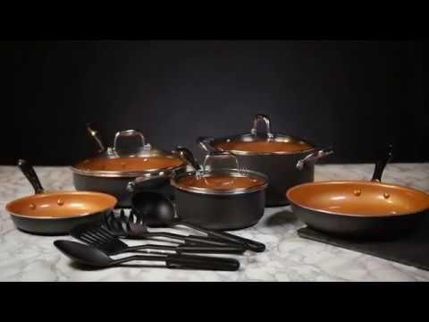 12-Piece Copper Titanium Cookware Set
