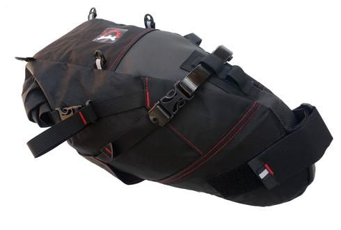 The big bag for big trips, the Viscacha™ (vis-KA-cha) does it all. Take it on the Great Divide Route, the Iditarod trail, or long day trips. This is *the* go-to seat bag for big adventures! Proven time after time in the longest and hardest endurance events on the planet, be it dirt, snow or pavement.