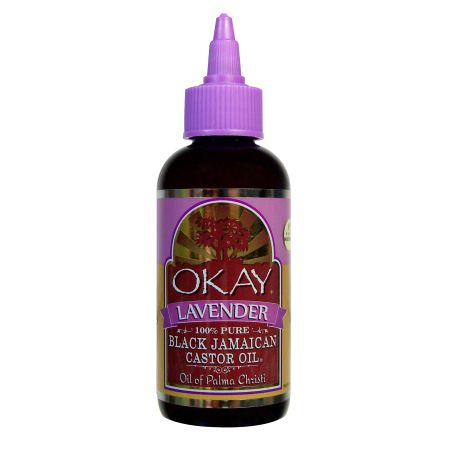 Okay Black Jamaican Castor Oil With Lavender, 4 Oz, Multicolor