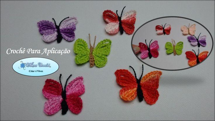 Borboletas de Crochê Para Aplicação- 01