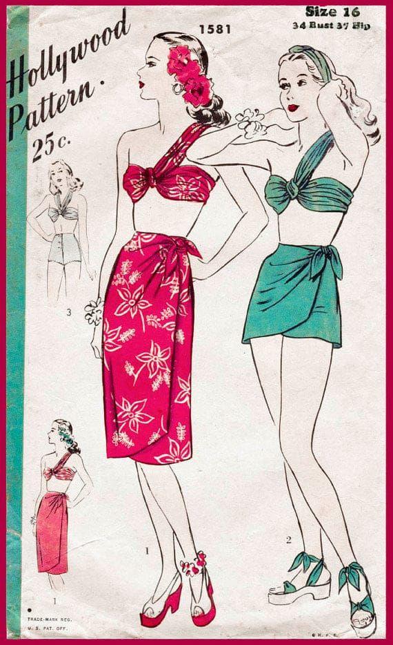 Fashion sure has changed, hasn't it? -  #1940s, swim wear