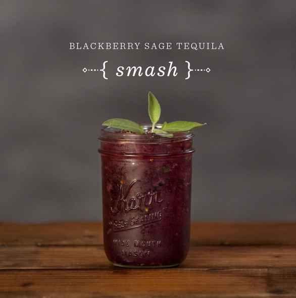 Blackberry Sage Tequila Smash
